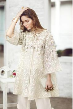 Screen shot 2018 06 19 at pm Pakistani Formal Dresses, Pakistani Outfits, Indian Dresses, Frock Fashion, Hijab Fashion, Fashion Dresses, Batik Fashion, Kebaya Dress, Embroidery Fashion