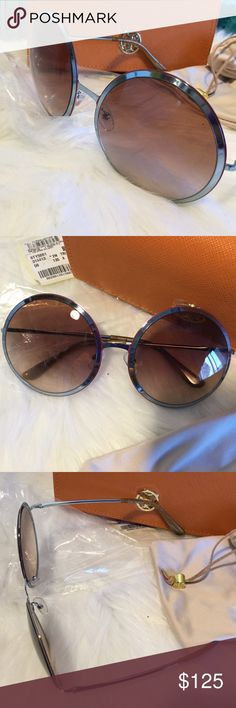 TORY BURCH ROUND SUNGLASSES Brand new Tory Burch round sunglasses in original packaging, includes Tory Burch sunglasses bag and orange Tory Burch sunglass case. Only removed from packaging for photo purposes. Gorgeous and in perfect condition!  Boutique item prices are firm unless bundled.  Please comment with any questions and feel free to make an offer with the blue button! ⭐️ Purchase by noon EST and item(s) ship the same day!  Bundle items and save, just click the three dots in right…