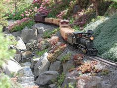 Model Train Resource: G-Scale (Garden) Track Plans To Inspire Your Own Layout Designs Garden Line, Garden Art, Garden Railings, Garden Railroad, Model Train Layouts, Model Trains, Garden Planning, Layout Design, Decks