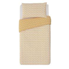 Buy Argos Home Mustard Zig Zag and Dot Bedding Set - Single Bed Duvet Covers, Duvet Cover Sets, Teenage Room, Comfort Design, Single Duvet Cover, Duvet Bedding, Retro Pattern, Argos, Bed Sizes