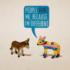 People hurt piñata donkey ):