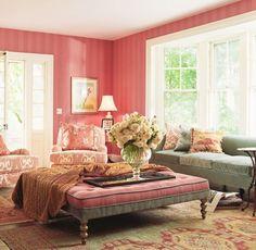 "Traditional Living Room with Daisy 88"" velvet sofa sky blue, French doors, Layla grayce, interior wallpaper, Hardwood floors"
