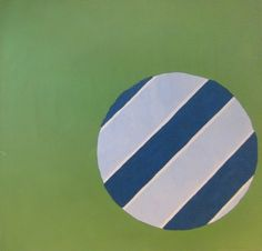 Edward Avedisian, 1965, Blue and White Beach Ball, acrylic on canvas, 72 x 84 inches. Courtesy of Carrie Haddad Gallery.