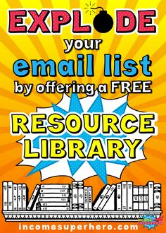 Explode your email list by offering a free resource library | Click to learn how to quickly and easily set up your own resource library on your website or blog | This method is 100% free