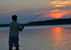 Fishing at sunset in #BeaufortSC