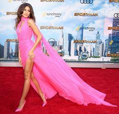 Zendaya and Marisa Tomei show leg and stun at 'Spider-Man: Homecoming' movie premiere