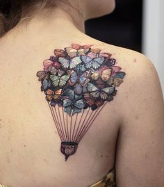 "Hot air balloon tattoos are a ""feel good"" kind of tattoo. They inspire us with the feeling of absolute freedom, peace and tranquillity. Thanks for caring, thanks for sharing."