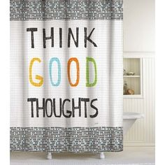 Shop for Think Good Thoughts Shower Curtain. Free Shipping on orders over $45 at Overstock.com - Your Online Bath