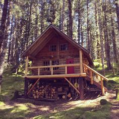 @offgridtalk • I would rather be amongst forest animals and the sounds of nature, than amongst city traffic and the noise of man. #alaska #cabin