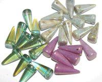 Czech Glass Beads: My New Stash of Glass Beads - Spike Beads and Mushroom Beads - Beading Supplies We Love - Beading Daily