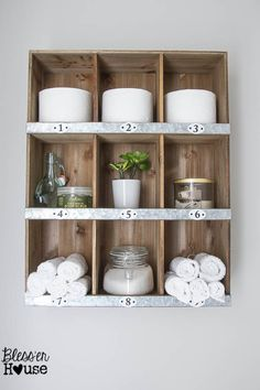 Rustic Industrial Bathroom Makeover Source List and Budget Breakdown... Target Threshold cubby