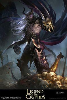 Artist: Jack Wang - Title: Legend of the Cryptids - Card: Vadim, Ritualborn Demon (Murderous)