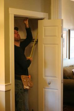 DIY - Want to make a door into a secret passage with a bookcase!? Here is a great tutorial on how to do just that - with a book as the lever that opens it!