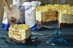 sernik z bananami i czekoladą Cheesecakes, Tiramisu, Camembert Cheese, Ethnic Recipes, Food, Pies, Essen, Cheesecake, Meals