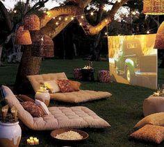 Backyard Movie Screen Idea  Please Follow