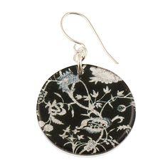 4120-60 - Black Floral Earrings originjewelry.net