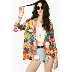 Chelsea Floral Blazer ($90) ❤ liked on Polyvore