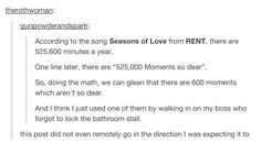600 moments which aren't so dear