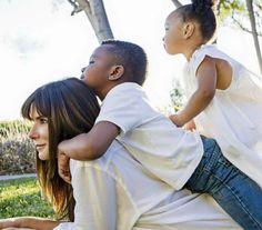 Sandra Bullock and her children