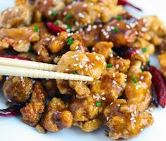 Healthy Dinner Recipes: General Tso's Chicken #recipes #healthy Can't get enough recipes? Visit www.TheGuide.com and click on 'Recipes'.