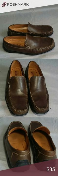 Ecco Shoes Brown 45 Slip-on Leather Item is in a good condition, NO PETS AND SMOKE FREE HOME. Ecco Shoes Loafers & Slip-Ons