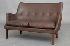 Pair of Sofas and Lounge Chair by Arne Vodder for Ivan Schlechter   From a unique collection of antique and modern sofas at https://www.1stdibs.com/furniture/seating/sofas/
