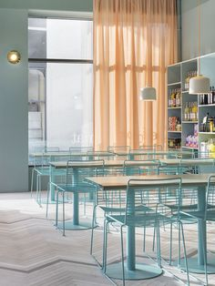 Light blue and peach Note Design Studio