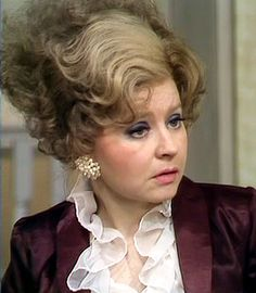 Prunella Scales plays Sybil Fawlty, Basil's snarky, sharp tongued wife in, 'Fawlty Towers'. British Comedy Series, British Tv Comedies, Classic Comedies, British Actors, American Actors, Sybil Fawlty, Fawlty Towers, Bbc Tv, Monty Python