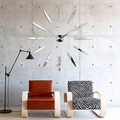 Große Wanduhr Modern design wand uhr wohnzimmer wanduhr spiegel wandtattoo deko 3d