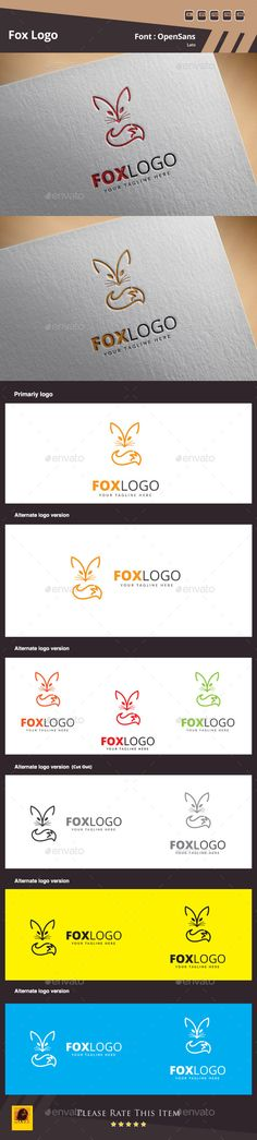 Fox Logo Template — Photoshop PSD #wild #symbol • Available here → https://graphicriver.net/item/fox-logo-template/11981539?ref=pxcr