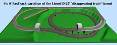 FasTrack variation of a D-27 to fit on a 4'x 8' layout