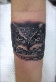 Owl | InkFREAKZ.com Original Tattoos, Friend Tattoos, Owl, Beautiful Tattoos, Bird Feathers, Random Tattoos, Birds, Great Tattoos, Owls