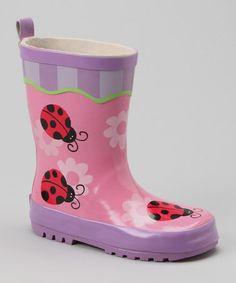 BNIB Girls Sz 13 Quality Frozen Brand Smart Blue Purple Print Gumboots