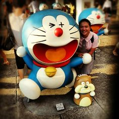 I LOVE DORAEMON!! Lovely day with @tiffanychan525 :D   #lovely#day#cute#100#doraemon - @vickywestenra- #webstagram