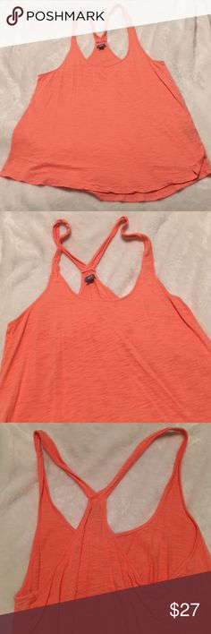 NWOT Aerie coral tank 🎁🎁Offers encouraged & flexible                                                                                🔑Bundle to save 15%                                                                                                   ✍Comment if you have questions                                                                                                 Perfect condition coral tank. Soft and lightweight. Criss cross back. aerie Tops Tank Tops