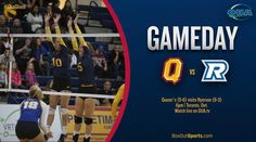 GAMEDAY  Best of luck to @queenswvb who visit Ryerson tonight! Watch on OUA.tv