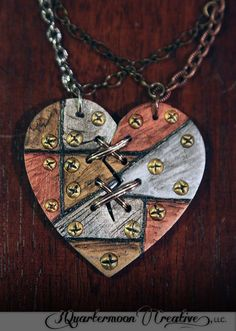 Ex Marks The Robot Heart Necklace Laser by 3QuartermoonCreative