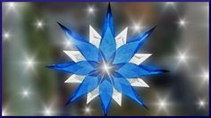 A tutorial on making Waldorf Window Stars from folded transparent kite paper. Sarah Baldwin, Waldorf teacher and owner of Bella Luna Toys shows you how! Paper Snowflake Patterns, Paper Snowflakes, Paper Stars, Origami And Kirigami, Origami Stars, Christmas Makes, Christmas Crafts, Fun Crafts, Paper Crafts