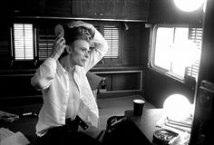 1975 - David Bowie as Thomas Newton in The Man Who Fell To Earth (backstage photo).