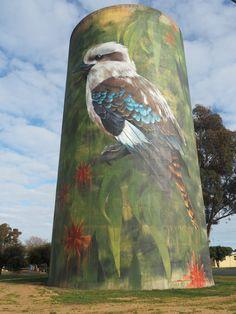 Rail Car, Fence Art, Wall Paintings, Building Art, Australian Art, Water Tower, Futurism, Land Art, Water Tank