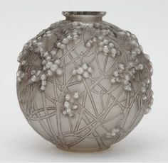 "René Lalique Glass ""Druide"" Vase, circa 1932"