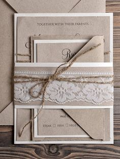 Items similar to Custom listing Natural recycling paper Wedding Invitation, Country Style Lace Wedding Invitations, Rustic Wedding Invitations on Etsy Lace Wedding Invitations, Wedding Stationary, Wedding Paper, Wedding Cards, Diy Wedding, Rustic Wedding, Wedding Wishes, Dream Wedding, Wedding Day
