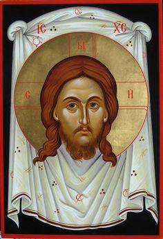 The Holy Mandylion Zoran Zivkovic Byzantine Art, Byzantine Icons, Veil Of Veronica, Roman Church, Face Icon, Russian Orthodox, Christian Art, Religious Art, Holy Spirit