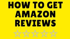 How To Get Reviews On Amazon by Ben Laing | Amazon Goldrush Amazon Reviews, How To Get, Teaching, Tips, Advice, Learning, Education