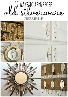 17 ways to repurpose old silverware, plus several lists of other re-purposing ideas at the bottom.