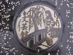 Manhole cover in Japan