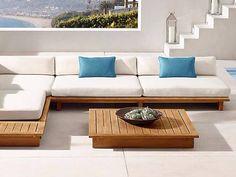Corner Sofa Design, Daybed Design, Living Room Sofa Design, Cheap Patio Furniture, Diy Furniture Couch, Furniture Design, Do It Yourself Sofa, L Shaped Sofa Designs, Wooden Sofa Set Designs