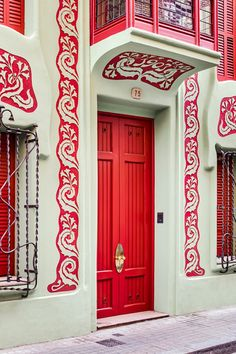 Door House Design main door window design Lart Nouveau Architecture De Barcelone Revisite