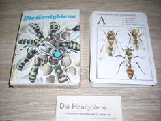 Die Honigbiene Lehrquartett unbenutzt Karten Altenburg Spielkarten OVP DDR