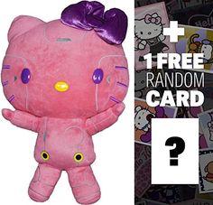 Hello Kitty Robot Plush Pink 135 FuRyu x Sanrio Gorgeous Plush  1 FREE Official Hello Kitty Sticker Bundle PRZ4889 ** Visit the image link more details. Note:It is affiliate link to Amazon.